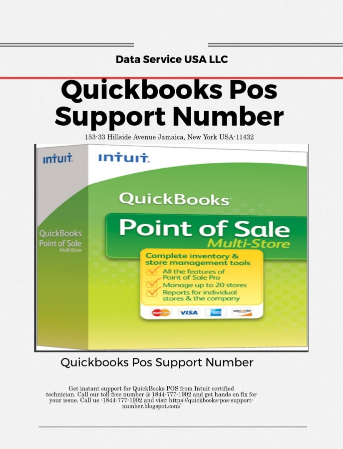 Quickbooks Pos Support Phone Number – Data Service USA LLC